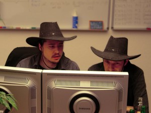 cowboy hats in action