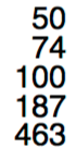 Right aligned integer numbers